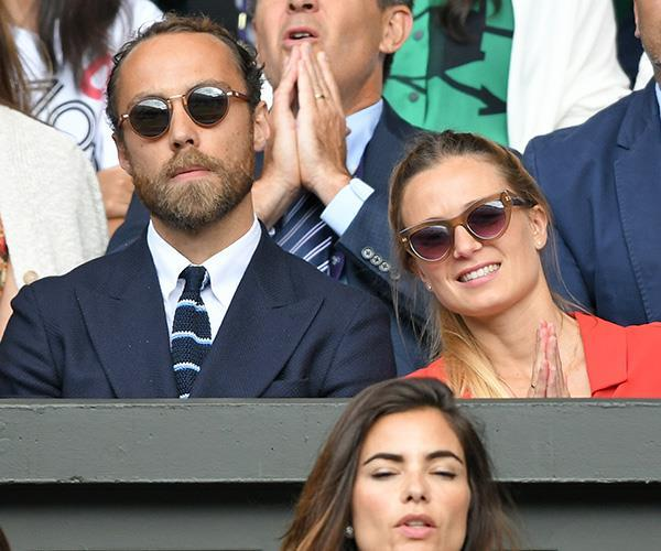Throughout 2019, the sweet (and chic) couple were seen at multiple events together, including Wimbledon (pictured).