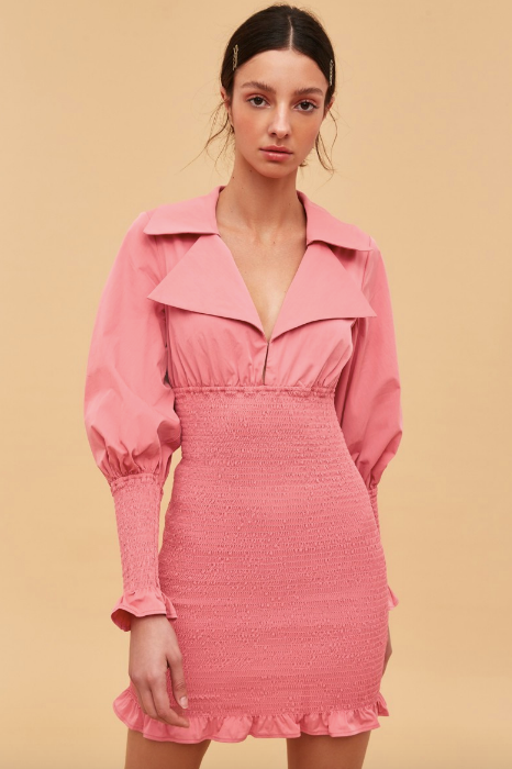 "Same same, yet different, you can shop this similar style from the label itself. $199.95, [buy it online here](https://fashionbunker.com/running-out-dress-pink|target=""_blank""