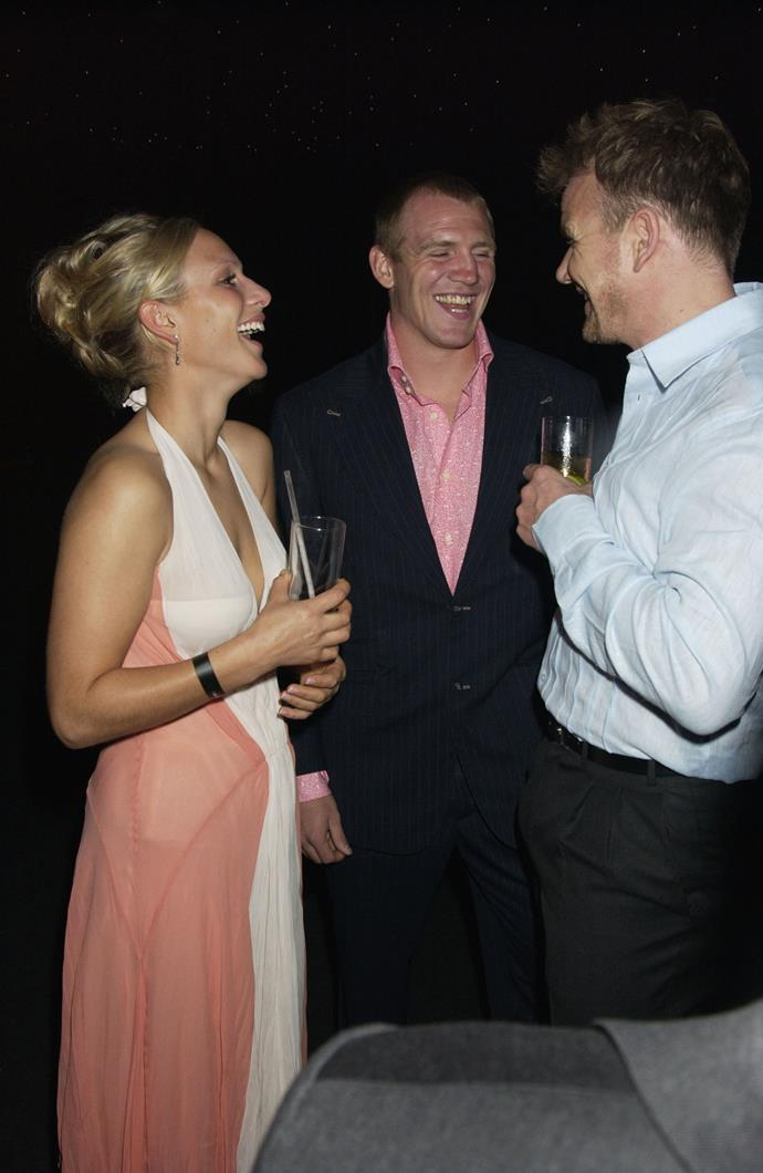 Zara and rugby player Mike Tindall hit it off immediately back in the day. The're pictured here in 2004 during a charity dinner with none other than Gordon Ramsay.