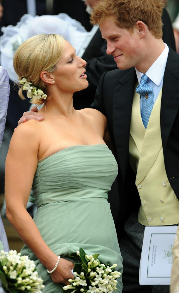Attending the wedding of brother Peter and Autumn Phillips, Zara was a vision in pastel green and florals aplenty.