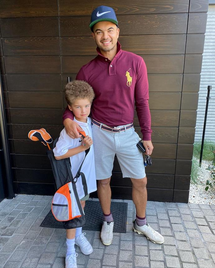 Father-son golfing day!