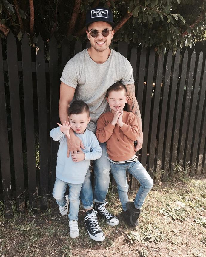 Guy, Archie and Hudson enjoying some father-son time together.