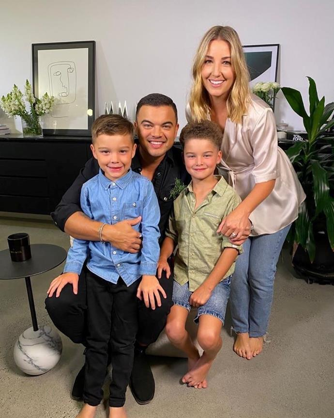 Guy and Jules with their two boys, Hudson and Archie.