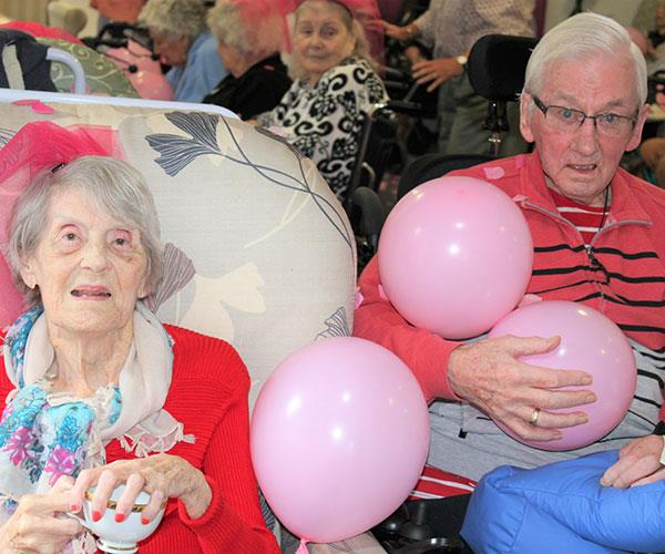 Full of wisdom when it comes to marriage, residents Janice and Brian have been married for 64 years.