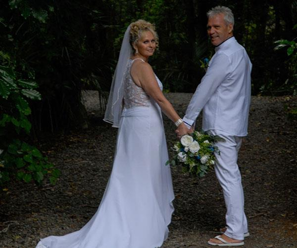 Tanya and Brian pictured on their wedding day.