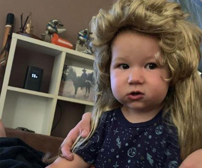 Are you even parenting right if you don't put a mullet wig on your baby? We think not. Colton, you win the internet.