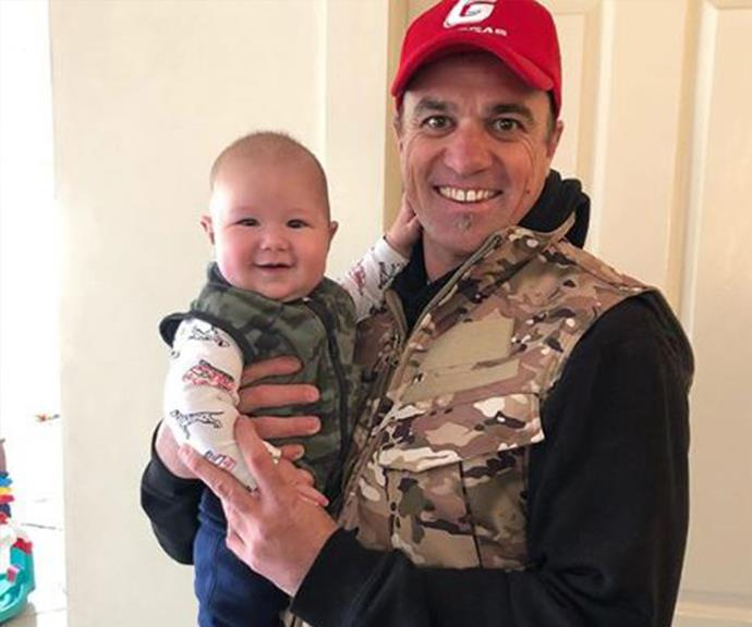 """Pretty chilly today so the little bloke and I pulled out our camo vests!"""