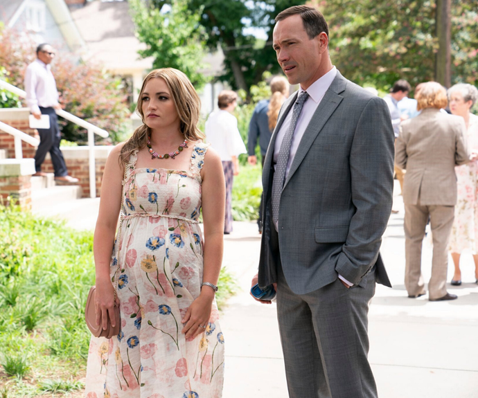 Jamie Lynn Spears (left) with Chris Klein, who plays doctor and Maddie's ex-husband, Bill Townsend.
