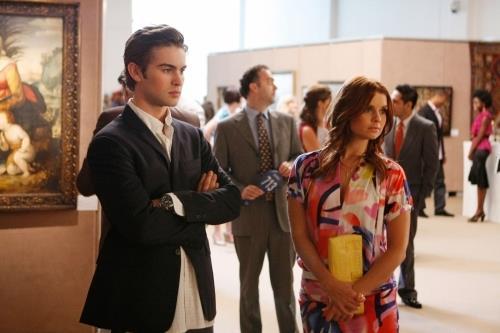 Nate Archibald (Chace Crawford) and Bree Buckley (JoAnna García Swisher) on *Gossip Girl*.