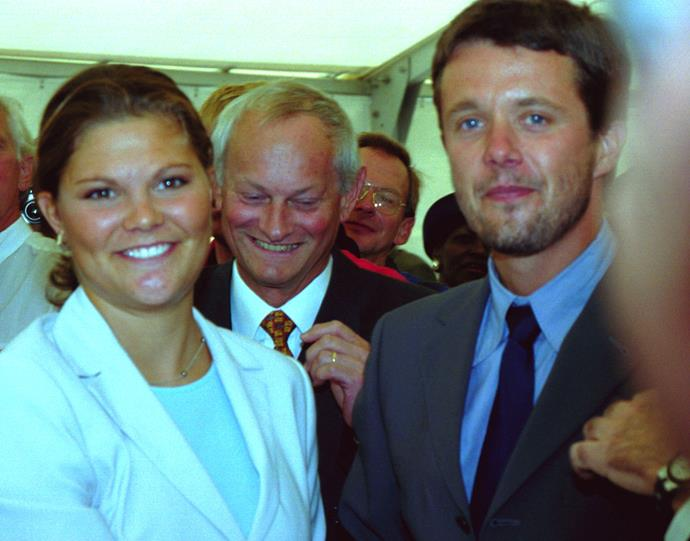 The Crown Prince always drew eyeballs wherever he went. Pictured here in 1999 with neighbouring royal Crown Princess Victoria of Sweden, the world revelled in the candid European royal encounter.