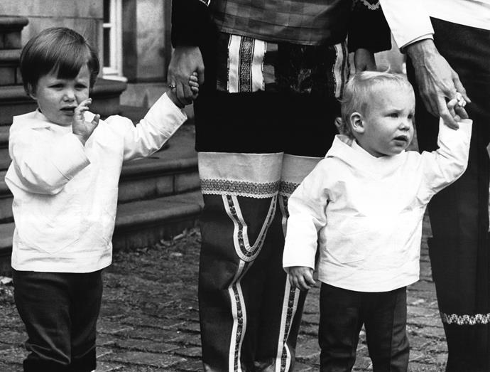 Born on May 26, 1968, Crown Prince Frederik was the eldest child of parents Queen Margrethe II of Denmark and Henri de Laborde de Monpezat. His younger brother, Prince Joachim of Denmark was just as cute as the adorable toddler - pictured here in 1970.