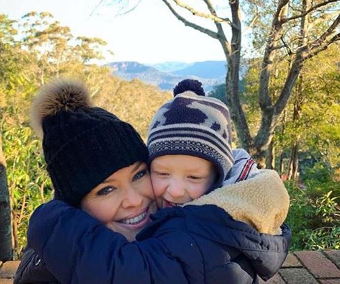 """""""Blue Mountains with my boy. Nothing like a bit of fresh mountain air."""""""