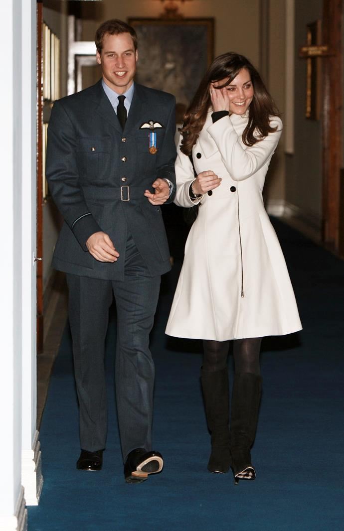 Kate accompanied William to his RAF wings ceremony in 2008.