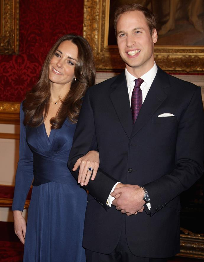 And of course, the big day finally came. The happy couple, looking as radiant as ever (how fresh-faced does Wills look?!) during their official engagement photocall in 2011.