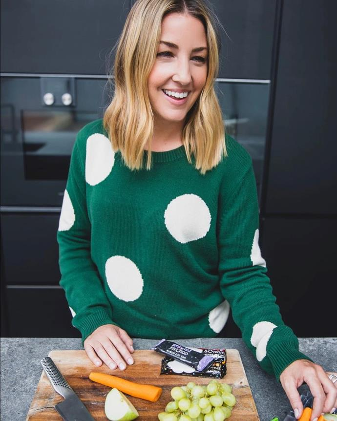 Love this cute geometric jumper.