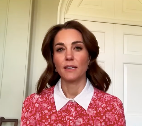 "For [Mental Health Awareness Week](https://www.nowtolove.com.au/royals/british-royal-family/kate-middleton-prince-william-mental-health-awareness-week-63986|target=""_blank""), Kate took part in a special radio broadcast from her home in this gorgeous red collared creation by Beulah London."