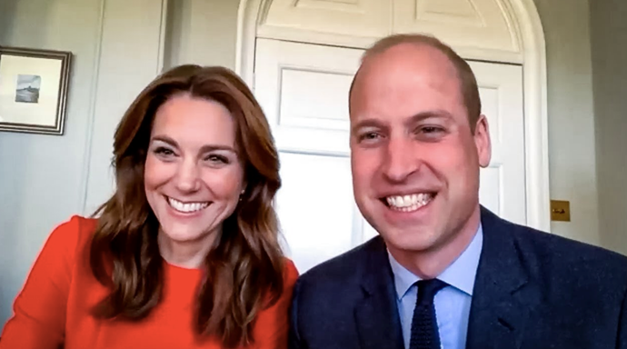 "For VE Day, Kate and Wills [chatted to war veterans via a video call](https://www.nowtolove.com.au/royals/british-royal-family/royals-ve-day-tributes-63886|target=""_blank""), with the Duchess opting for this bright cardinal red L.K.Bennett dress. Guess that's one way to stand out in a Zoom call."