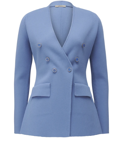 """The gorgeous jacket is an investment at $499. But if you've got the urge to splurge, it'll guarantee you seasons of chic to come... [Buy it online here](https://thurley.com.au/products/knit-blazer-1