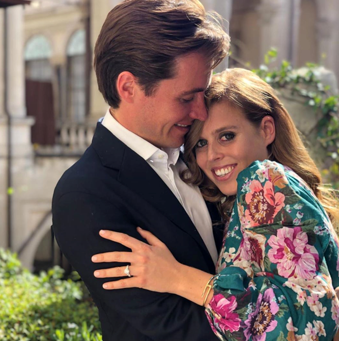 """The big announcement: That same month, the palace confirmed that [Edoardo Mapelli Mozzi had proposed to Princess Beatrice.](https://www.nowtolove.com.au/royals/british-royal-family/princess-beatrice-engaged-57852