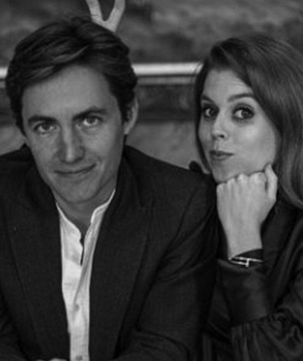 Proud mum Sarah Ferguson quickly took to social media to express her joy, sharing two black-and-white photos of the happy couple which were snapped by Misan Harriman at the Royal Lodge in Windsor Great Park.