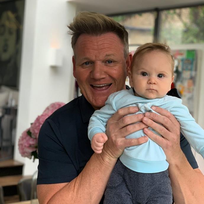Gordon with his lookalike son Oscar.