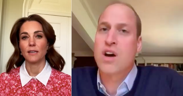 Prince William shares a rare sneak peek inside the Cambridge's living room in a new BBC interview