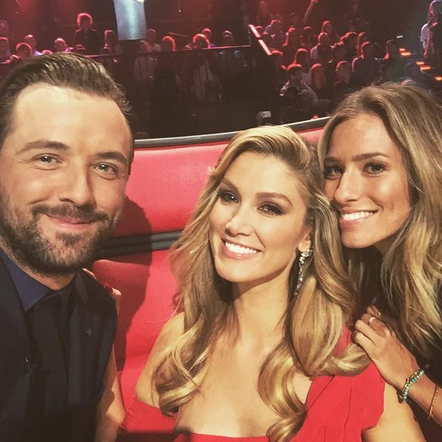Delta with her bestie Renee Bargh and co-host Darren.