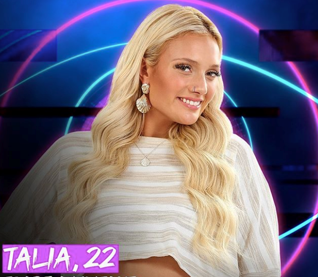 "**Talia** <br><br> Talia is coming on the show with a mission: To ""smash gender stereotypes"". The smart, strong and confident woman currently works on a job site of 50 men, which has only spurred her strong-willed and has a rebellious streak along."