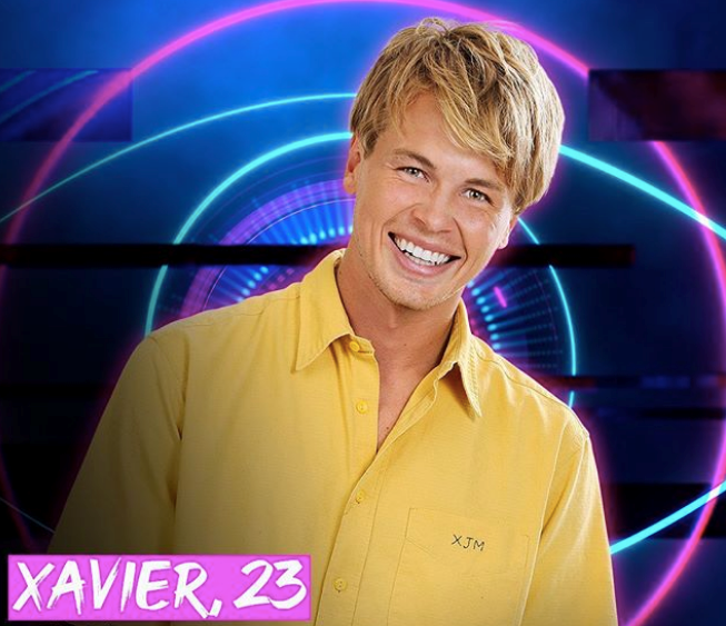"""**Xavier** <br><br> A chilled-out """"surfer boy"""", Xavier is here to bring the banter with his laid-back attitude, plus some good manners to manipulate his fellow housemates."""