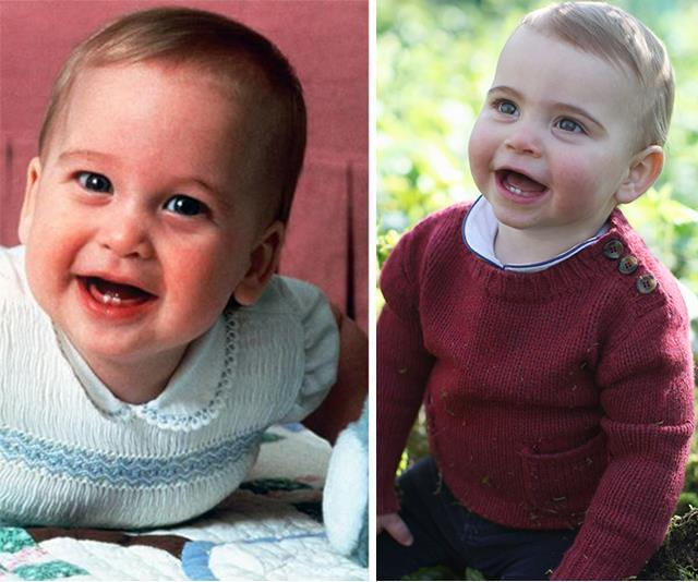 While others have noted how much young Louis looks like his dad Prince William at the same age.
