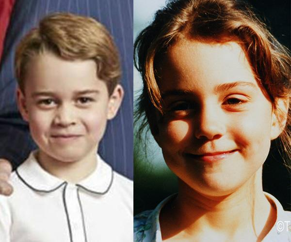 Comparisons have also been made between George and his mother, Duchess Catherine, when she was a little girl.