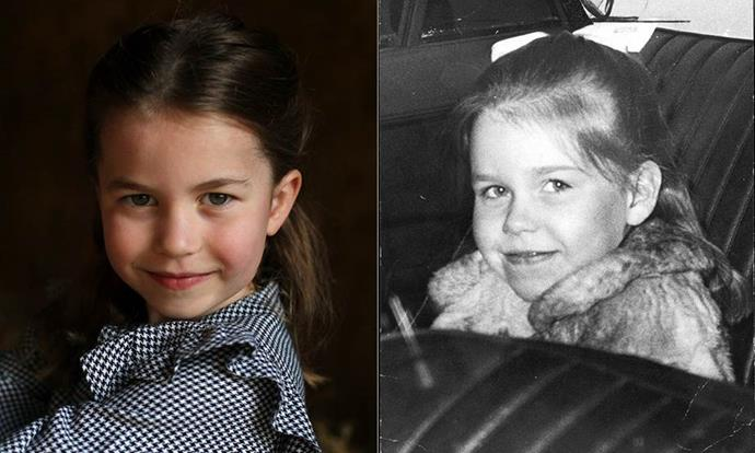 "But it's Princess Charlotte who perhaps has the most royal doppelgangers out of anyone. In May, [after the palace released a series of new portraits to mark Charlotte's fifth birthday,](https://www.nowtolove.com.au/royals/british-royal-family/princess-charlotte-5th-birthday-photos-63764|target=""_blank"") twitter melted down after it was highlighted just how much the middle Cambridge child and Princess Margaret's daughter, Lady Sarah Armstrong-Jones, or Lady Sarah Chatto, looked alike."