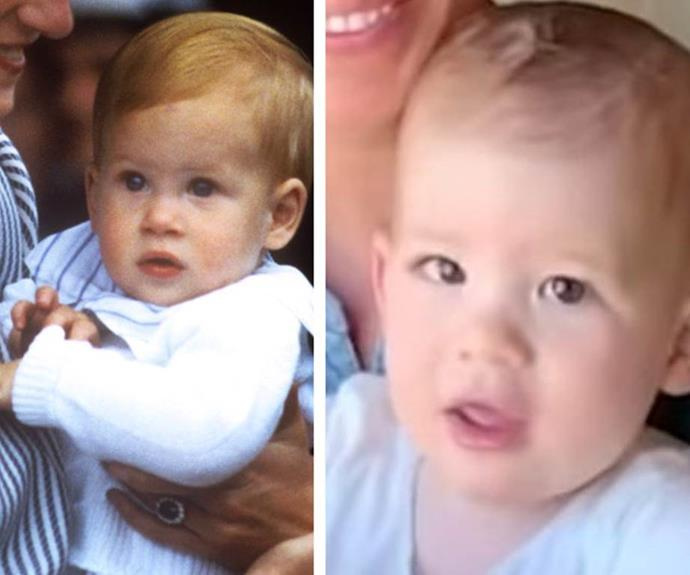 "Dad's double! To mark his first birthday, [the Sussexes released a touching home video,](https://www.nowtolove.com.au/royals/british-royal-family/archie-first-birthday-photo-63798|target=""_blank"") filmed by Prince Harry, of Duchess Meghan reading to Archie and fans have gone wild with comparisons of a young Harry at the same age as his son."