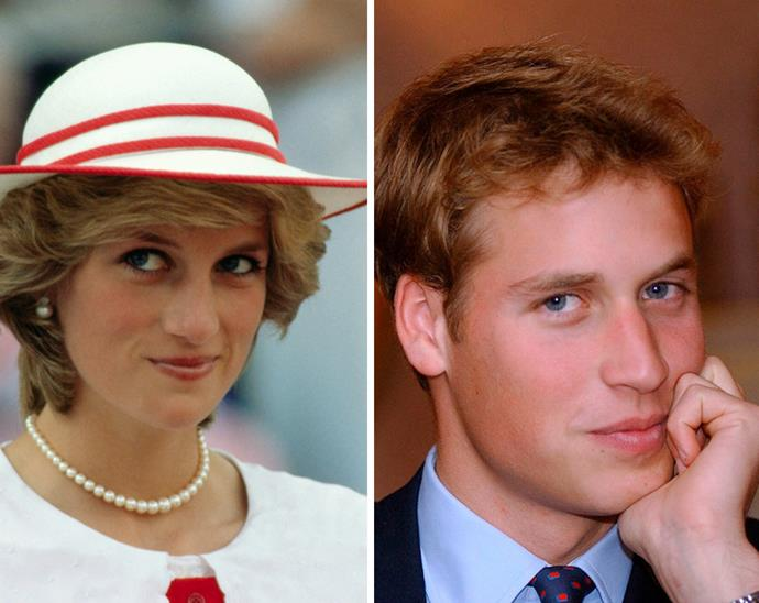 It's all in the Spencer pout! Parallels have often been drawn between Prince William and his late mother, Princess Diana - and it's easy to see why with the pair sharing the same captivating grin.