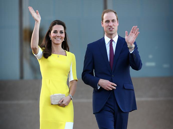 The Duchess looked just as radiant in the yellow dress back in 2014.