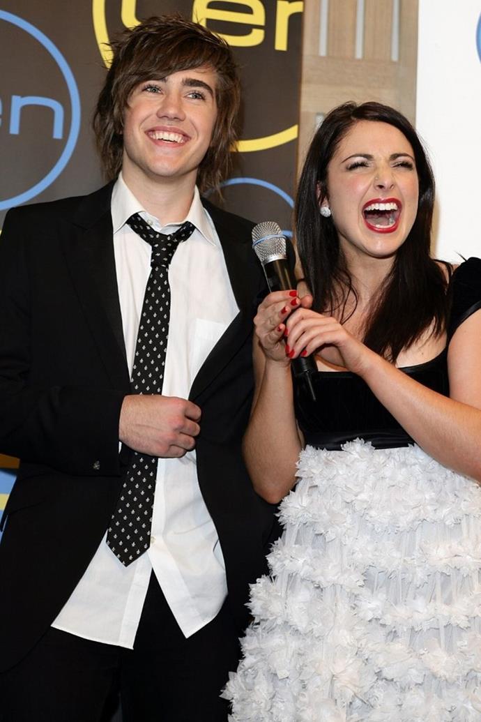 Natalie in 2007 with *Australian Idol* runner-up Matt Corby.