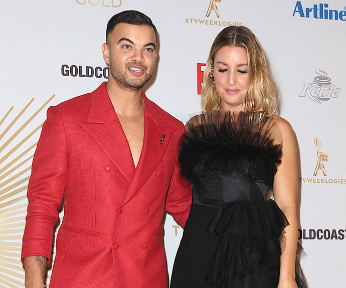 Guy and Jules pictured at the Logie Awards in 2019.