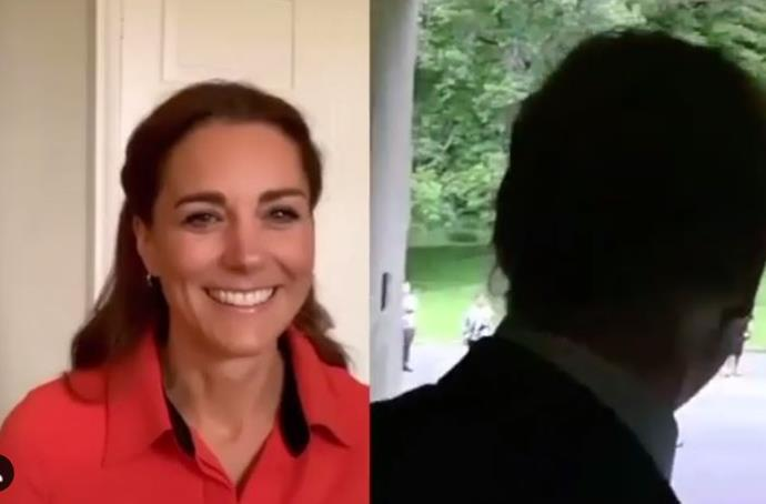 Kate's bright red shirt was eye-catching, to say the least.
