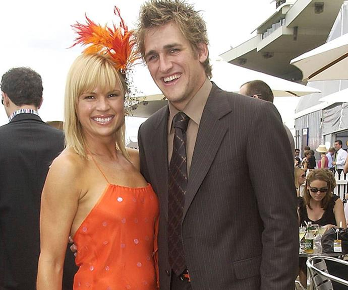 The cook and the dancer: Sonia rubs shoulders with Curtis Stone at the Golden Slipper Racing Carnival in 2004.