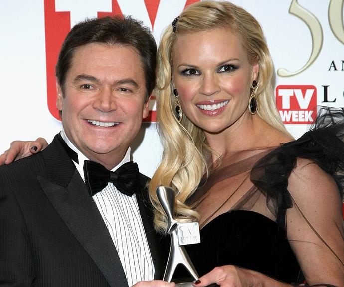 Sonia with her *Dancing With The Stars* co-host Daryl Somers.