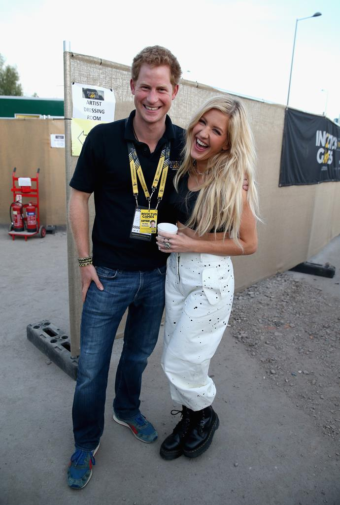 **ELLIE GOULDING** <br><br> While it's rumoured that Prince Harry and the British pop singer actually dated back in the day, it's clear they have remained close friends ever since and their breakup is water under the bridge!