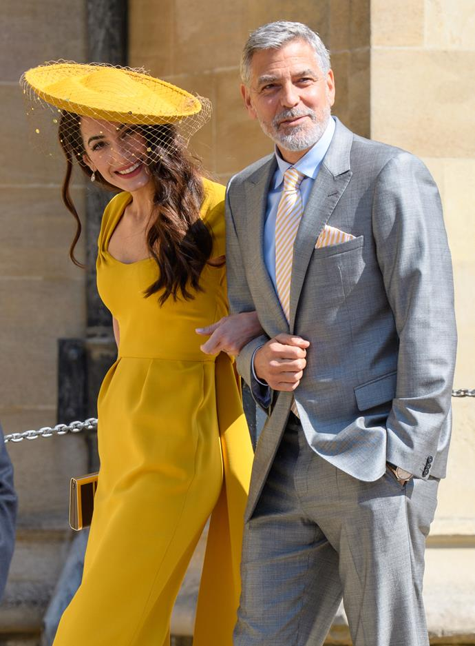 """**AMAL AND GEORGE CLOONEY** <br><br> Back when Harry and Meghan lived in the UK, they struck up a friendship with the Clooney family, who are also based in London, and regularly caught up for dinner.  <br><br> """"We live not too far from one another and we have dinners and stuff and we're friends with them for all the reasons that you're friends with anybody,"""" George Clooney explained of his friendship with Meghan and Harry.  Speaking just before Meghan gave birth to Archie, George added: """"They're just really nice, fun, kind people, they're a very loving couple, and they're going to be great parents."""""""