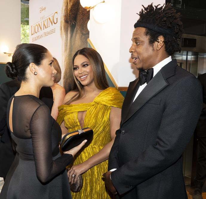 """**BEYONCE** <br><br> [Meghan and Beyonce first met on the red carpet](https://www.nowtolove.com.au/royals/british-royal-family/beyonce-meghan-markle-picture-57119