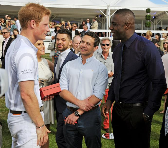**IDRIS ELBA** <br><br> The acclaimed British actor first connected with Harry years ago, before he met Meghan, through The Prince's Trust, which Elba became the Anti-Crime Ambassador of in 2009.  <br><br> He actually credits his own acting success to Prince Charles' charity, which gave him a small grant in the early '90s so he could attend National Youth Music Theatre. The rest, as they say, is history.