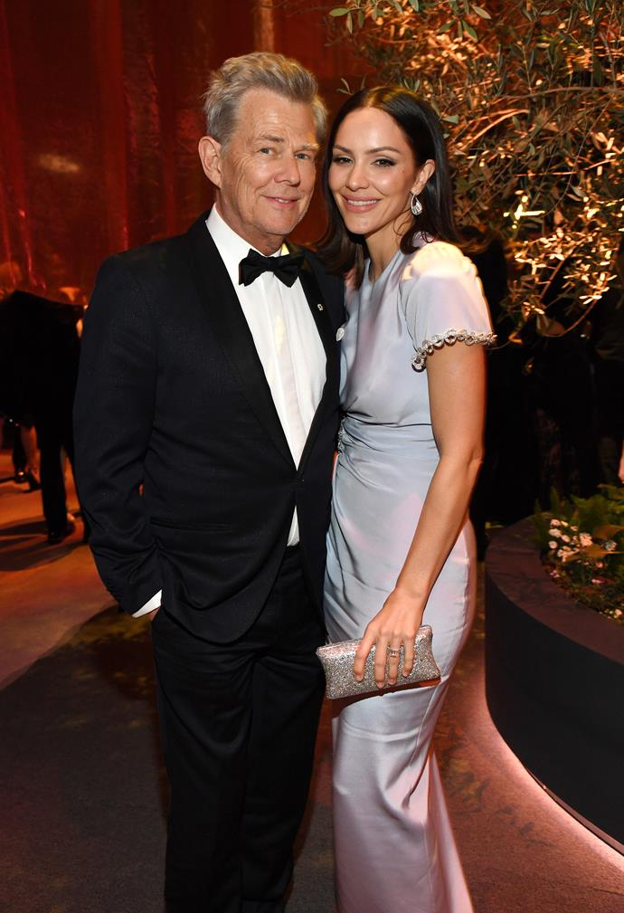 """**KATHARINE McPHEE and DAVID FOSTER** <br><br> Ever since Harry and Meghan moved to LA, the couple have forged a strong friendship with American musician and record company executive David Foster, 70, and his younger wife, 36-year-old actress and singer Katharine McPhee.  <br><br> In a recent interview, Katharine revealed her husband has become like a father to Harry since he moved to Hollywood.  <br><br> """"My husband has a really, really beautiful relationship with Harry,"""" the *American Idol* and *Smash* star told *Access Hollywood*.  """"They're so cute, they're like father and son,"""" Katharine revealed."""