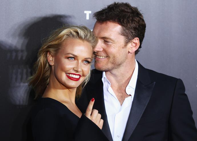 The couple pictured on the red carpet in Sydney.