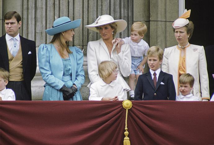 In 1987, Diana and in-law Sarah Ferguson swapped fashion notes by opting for brimmed hats during the annual event. We're particularly fond of Diana's stark white look, which looked timelessly classy and chic.