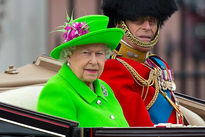 Ever the colour chameleon, Queen Elizabeth II went bold as she went home for the 2016 Trooping the Colour parade. A zesty green never goes amiss!