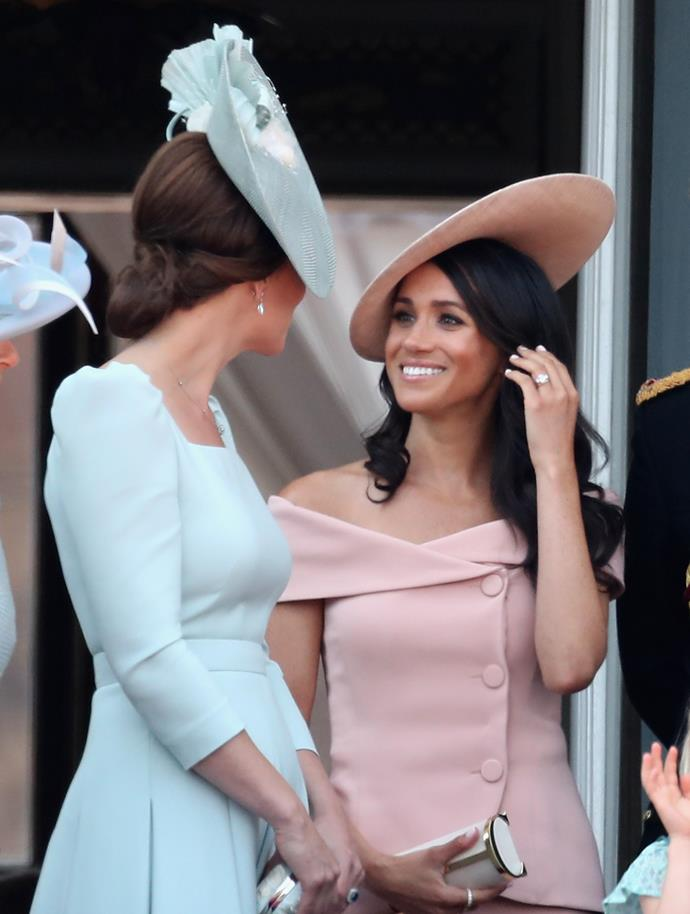Meghan and Kate shared a sweet bonding moment during the day's event.