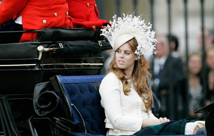 Following in her mother Sarah's footsteps, Beatrice has always been known to make quite the fashion statement at the event throughout the years. This standout hat, worn in 2007, is case in point!